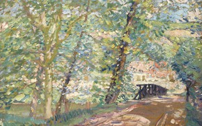 Picture landscape, picture, Karl Albert Buehr, Carl Albert FYR, 1908-11, The bridge Leading to the House …