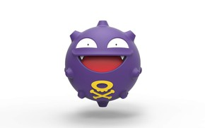 Picture ball, poison, pokemon, pokemon, poisonous, Koffing, coping, koffing
