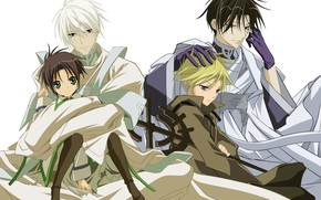 Picture vector, anime, guys, the seventh spirit, 07 ghost