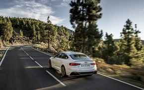 Picture road, Audi, speed, rear view, RS5, Sportback, RS 5, 2020