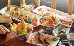 Picture caviar, shrimp, serving, rolls