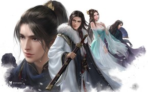 Picture the game, fantasy, art, heroes, li miao, Snow Hawk Lords multiplayer campaigns