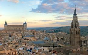 Picture castle, home, panorama, Spain, Toledo