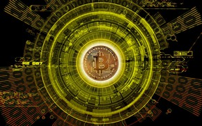 Wallpaper currency, money, Bitcoin, logo, coin, currency