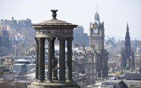 Picture Scotland, panorama, columns, Edinburgh