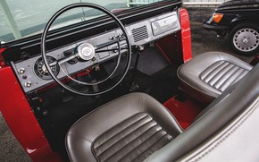 Picture red, Roadster, Ford, the wheel, 1966, Bronco