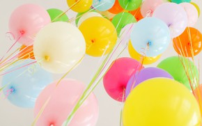 Wallpaper summer, happiness, balloons, stay, colorful, summer, happy, balloon