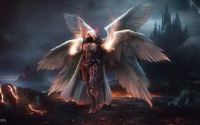 Picture Fantasy, Blizzard, Art, Diablo 3, Diablo, Angel, Concept Art, Archangel, Auriel, Character, The Daemon Auriel