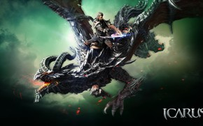 Picture dragon, the game, warrior, Icarus