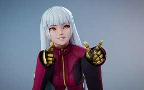 Picture girl, smile, beauty, gloves, King of Fighters, Kula Diamond, Me