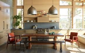 Picture design, interior, kitchen, dining room, Hillside Sanctuary