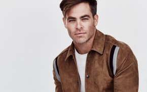 Picture look, pose, jacket, actor, Chris Pine, Chris Pine