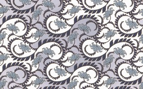 Picture flowers, background, pattern, curls, texture