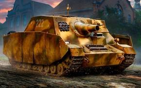 Picture SAU, the Wehrmacht, German self-propelled artillery, Assault gun, Sturmpanzer IV Brummbar