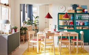 Picture design, style, room, interior, dining room, Ikea