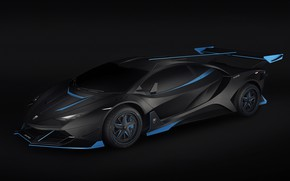 Picture Auto, Lamborghini, Car, Render, Supercar, Night, Aventador, Lamborghini Aventador, Rendering, Supercar, Concept Art, Sportcar, Encho …