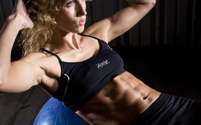 Picture figure, fitness, press, pose, the gym, training, workout, fitness, gym, training, abs, athletic, training ball, …