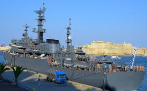 Picture ship, Malta, training, visit, Perekop