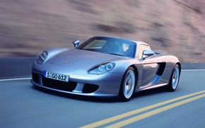 Picture car, Porsche, supercar, road, Carrera GT, Porsche Carrera GT