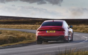 Picture Audi, turn, back, RS 7, 2020, UK version, RS7 Sportback