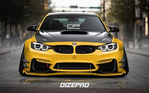 Picture Auto, Yellow, BMW, Machine, BMW M3, Rendering, Dmitry Strukov, Dizepro, by Dmitry Strukov