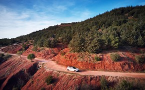 Picture road, mountains, transport, car, Ford Focus