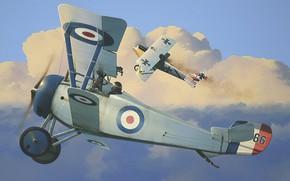 Picture airplane, aviation, biplane, ww1