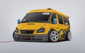 Picture Auto, Machine, Tuning, Style, Yellow, Gas, Transport & Vehicles, Dmitry Strukov, by Dmitry Strukov, Bus, …