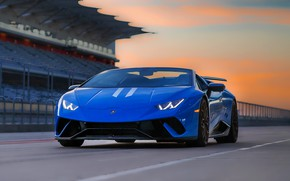 Picture road, car, machine, blue, Roadster, Lamborghini, Roadster, Lamborghini, convertible, road, Aventador, Wes Tindel