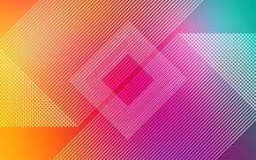 Picture line, background, figure, yellow, pink, lines, rhombus, fon, figures, rhombus