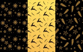Picture background, gold, black, Christmas