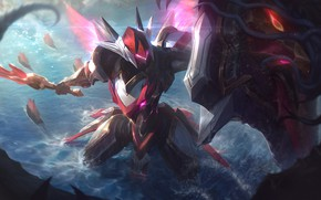 Picture water, armor, Leona, League Of Legends