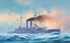 Picture Japan, Mikasa, Japanese battleship, The battle of Tsushima, Squadron battleship, IJN Battleship Mikasa, the flagship …