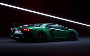 Picture Auto, Lamborghini, Green, Machine, Lamborghini Aventador, Rendering, Transport & Vehicles, by Praveen V. S, Praveen …