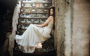 Picture girl, ladder, Mar Kalina