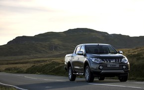 Picture road, mountain, valley, Mitsubishi, pickup, L200, 2015