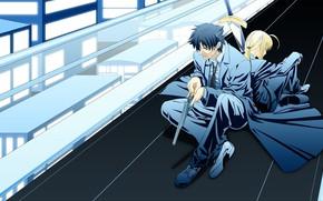 Picture anime, the saber, sudba beginning, Fate/ZeRo, Emiya Kiritsugu, The fate of the beginning