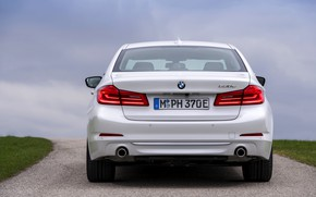 Picture white, BMW, sedan, hybrid, feed, 5, four-door, 2017, 5-series, G30, 530e iPerformance
