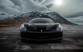 Picture Ferrari, GTB, BLACK, 488, FERRARI, FERRARI 488 GTB