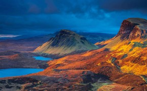 Picture mountains, Scotland, Isle of Skye, озеро Клит