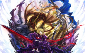 Picture weapons, girls, anime, art, the saber, Fate stay night, Fate / Stay Night