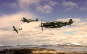 """Picture fighter, Messerschmitt, Bf-109, JG5, """"The Arctic ocean"""", Bf.109G-14"""