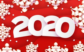 Picture decoration, snowflakes, background, New year, Christmas, New Year, 2020