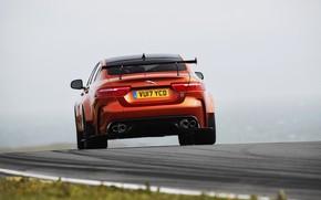 Picture orange, Jaguar, wing, rear view, 2017, XE SV Project 8