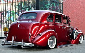 Picture Chevrolet, Red, Old, Tuning, Lowrider, Master Deluxe, 1938 Year