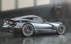 Picture Auto, Machine, Grey, Dodge, Car, Viper, Art, Dodge Viper, Render, Design, Silver, Supercar, Supercar, Sports …
