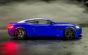 Picture Aston Martin, side view, Vanquish