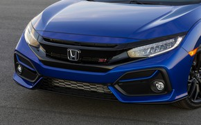 Picture blue, the hood, Honda, sedan, Civic, 2020, 2019, You Sedan