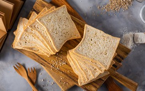 Picture bread, cereals, slices, cutting