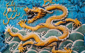 Picture wall, dragon, legend, image